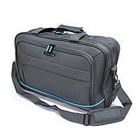 Мужская деловая сумка для ноутбука Mv-bags серого цвета, фото 1