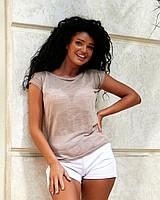 Лёгкая женская полупрозрачная футболка, фото 1