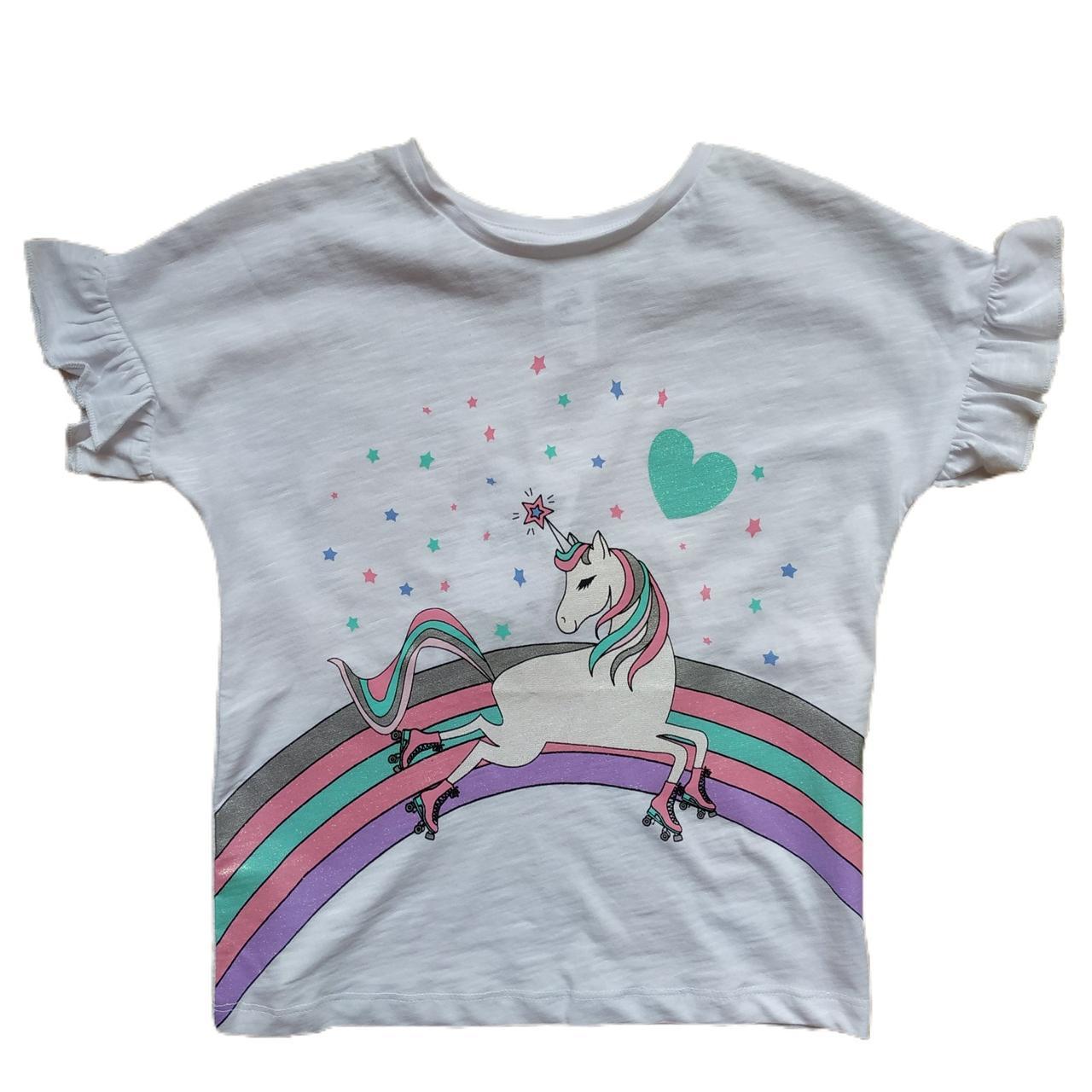 Летняя футболка с единорогом на девочку 5-6 лет C&A Германия Размер 116