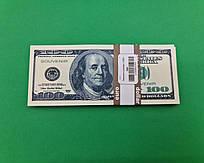 Сувенирные деньги 100 долларов  (1 пач)