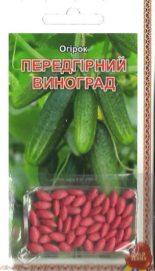 Семена огурец Предгорный виноград (драже) 3г Зеленый (Малахiт Подiлля)