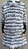 Пальто из меха чернобурки и полярной лисы