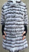 Пальто из меха чернобурки и полярной лисы , фото 1