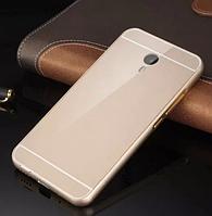 Чехол накладка бампер Mirro-like для Meizu M2 Note золотой
