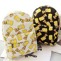 Стильный молодёжый рюкзак Барт Симпсон, симпсоны The Simpsons (Городской рюкзак)