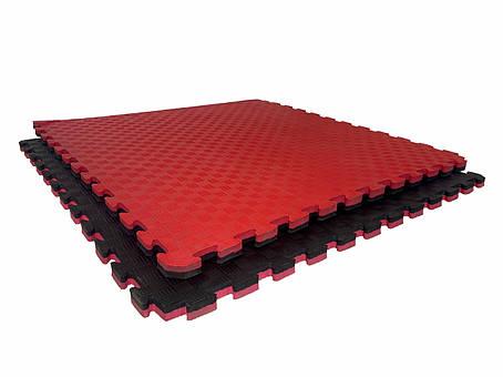 "Мат-татами Ланор ""ласточкин хвост"" 120кг м3 20мм красно-черный Т2, фото 2"