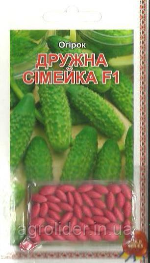Семена огурец Дружная семейка F1 (драже) 3г Зеленый (Малахiт Подiлля)