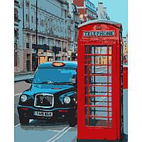 Набір картина за номерами Вечір в Лондоні 40х50см, акрилові фарби, кисті, полотно, фото 1