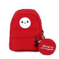 Маленький дитячий рюкзак текстиль червоний Арт.FM-3032 red Бренд (Китай)
