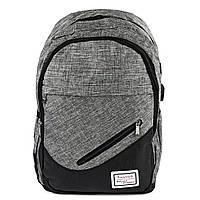 Тканинний чоловічий рюкзак поліестер сірий Арт.FM-904 Бренд (Китай)