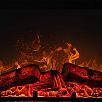 Электрокамин с порталом LEGIONIS AF-23S ArtiFlame белый ваниль, каминокомплект с имитацией звука горения дров, фото 3