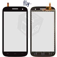 Сенсорный экран (touchscreen) для Fly IQ451Q Quattro Vista, черный, оригинал