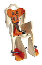 Сиденье задн. Bellelli B1 Сlamp (на багажник) до 22кг, бежевое с оранжевой подкладкой