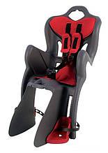 Сиденье задн. Bellelli B1 Сlamp (на багажник) до 22кг, серое с красной подкладкой