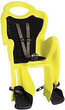 Сиденье задн. Bellelli Mr Fox Сlamp (на багажник) до 22кг, неоново-жёлтое с черной подкладкой (Hi Vision)