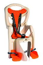 Сиденье задн. Bellelli Pepe Сlamp (на багажник) до 22кг, черное с красной подкладкой