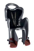 Сиденье задн. Bellelli Mr Fox Standart B-fix до 22кг, серебристое с чёрной подкладкой