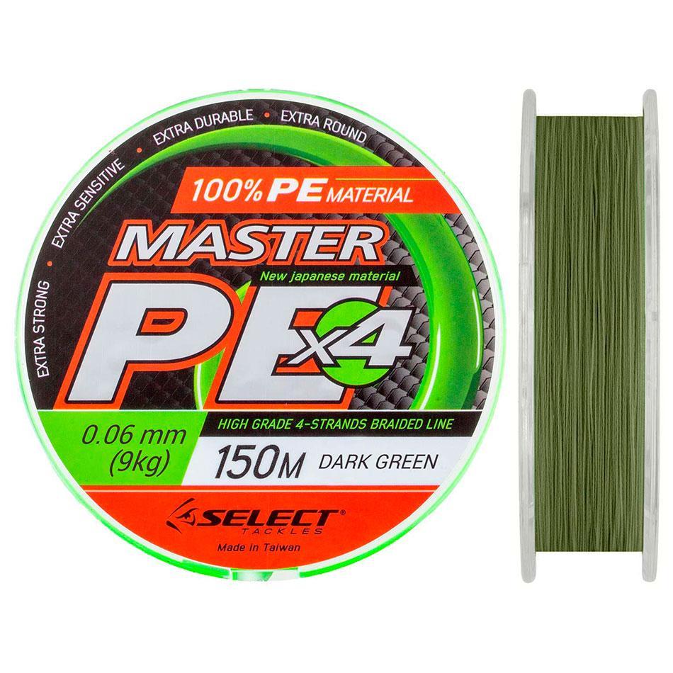 Шнур Select Master PE 150m (темн.-зел.) 0.10mm 13kg