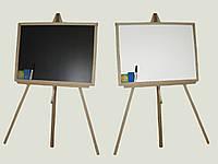 Доска для рисования Двухсторонняя 50х66 см. (с мелом и маркером)