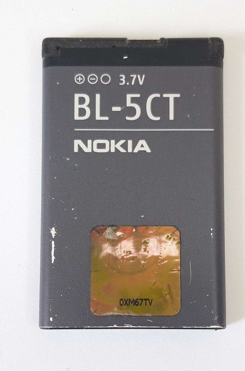 Акумулятор BL-5CT для Nokia 3720c, 5220c, 6303, 6303i, 6730c, C3-01, C5-00, C6-01, Li-ion, 3,7 В, оригінал б.у