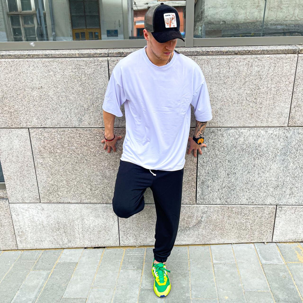 Комплект мужской футболка + штаны на манжете OVERSIZE