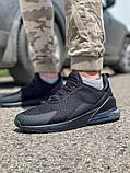 Кросівки чоловічі 18681, AirMax270 чорні, [ 40 41 42 43 44 45 ] р. 40-26,7 див., фото 3