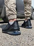 Кросівки чоловічі 18681, AirMax270 чорні, [ 40 41 42 43 44 45 ] р. 40-26,7 див., фото 4
