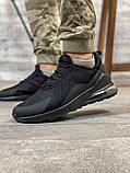 Кросівки чоловічі 18681, AirMax270 чорні, [ 40 41 42 43 44 45 ] р. 40-26,7 див., фото 8