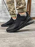 Кросівки чоловічі 18681, AirMax270 чорні, [ 40 41 42 43 44 45 ] р. 40-26,7 див., фото 10