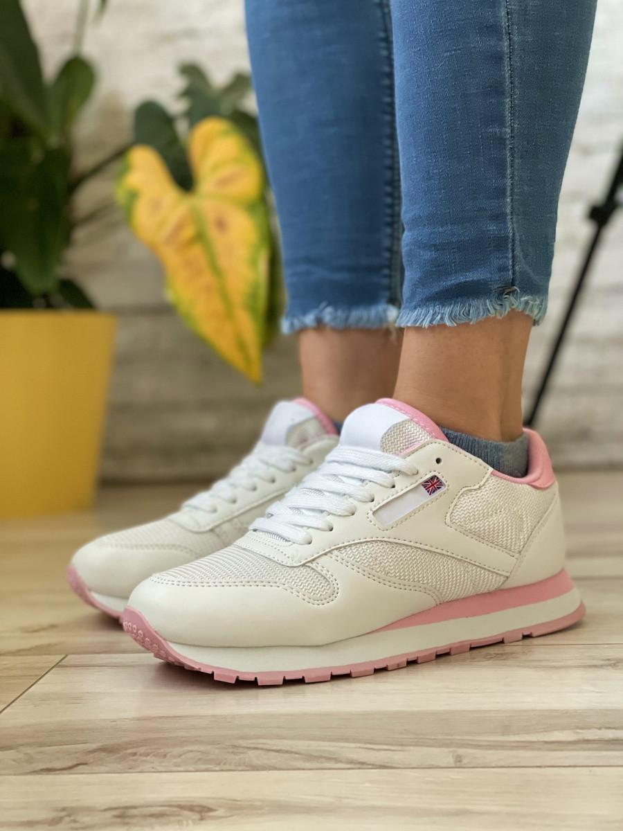 Кросівки жіночі 18783, RClassic білі/рожеві, [ 36 37 38 39 40 41 ] р. 36-24,0 див.