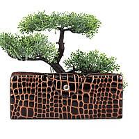 Візитниця для візиток лакова шкіра коричнева Арт.905 AL Balisa (Китай)