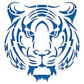Тигр трафарет для торта 18*17 см (TR-4)