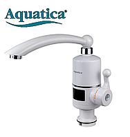 Кран-водонагреватель проточный NZ 3.0кВт 0,4-5бар для кухни гусак прямой на гайке Aquatica NZ-6B212W