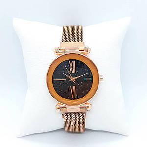 Жіночі наручні годинники Geneva QSF-002 Cuprum-Black 1010-0313