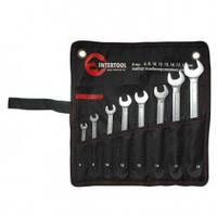 Набор комбинированных ключей 8 шт., 6 - 19 мм, INTERTOOL  XT-1002