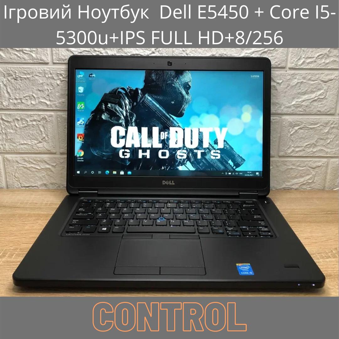 Ігровий Ноутбук Dell E5450 + Core I5-5300u+IPS FULL HD+8/256