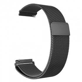 Ремінець Amazfit Bip / GTS / Galaxy Watch 42mm / Active2 / Gear S2 20mm black Milanese Loop