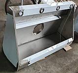Зонт пристенный 1600х800х400 мм из нержавеющей стали с подсветкой, фото 2