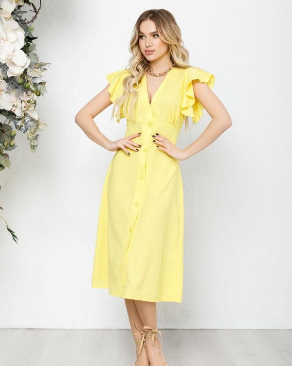 Сукні ISSA PLUS 12591 S жовтий
