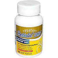 Пренатальная ДГК, Витамины для беременных, 21st Century, 30 капсул