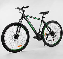 Велосипед Спортивный с 29 дюймовыми колесами, SunRun 21 скорость, стальная рама, Corso Aviator 31663