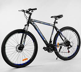 Велосипед Спортивный с 29 дюймовыми колесами, SunRun 21 скорость, стальная рама, Corso Aviator 47690