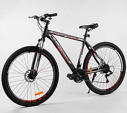 Велосипед Спортивный с 29 дюймовыми колесами, SunRun 21 скорость, стальная рама, Corso Aviator 69847