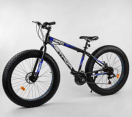 Велосипед Спортивный с 26 дюймовыми колесами, Фэтбайк, SunRun 21 скорость, стальная рама, Corso Fighter 20294