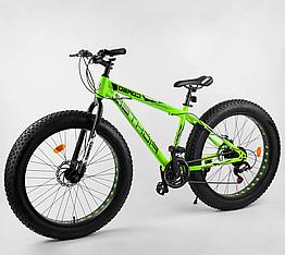 Велосипед Спортивный с 26 дюймовыми колесами, Фэтбайк, SunRun 21 скорость, стальная рама, Corso Fighter 40953