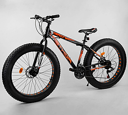 Велосипед Спортивный с 26 дюймовыми колесами, Фэтбайк, SunRun 21 скорость, стальная рама, Corso Fighter 78818