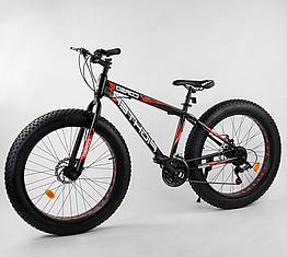 Велосипед Спортивный с 26 дюймовыми колесами, Фэтбайк, SunRun 21 скорость, стальная рама, Corso Fighter 96405