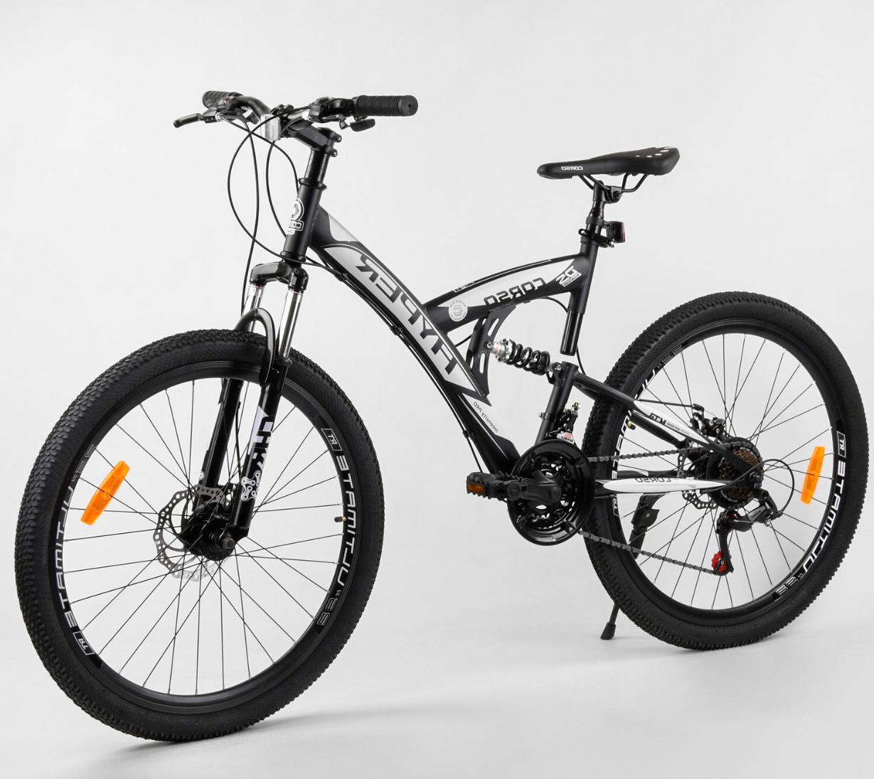 Велосипед Спортивный с 26 дюймовыми колесами, SunRun 21 скорость, металлическая рама, Corso Hyper 66729