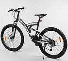 Велосипед Спортивный с 26 дюймовыми колесами, SunRun 21 скорость, металлическая рама, Corso Hyper 66729, фото 3