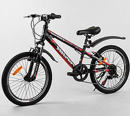 Велосипед Спортивный с 20 дюймовыми колесами, Shinemax 7 скоростей, металлическая рама, Corso Pulsar 36287